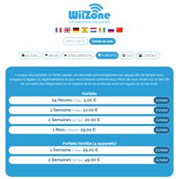 prix wiizone forfaits